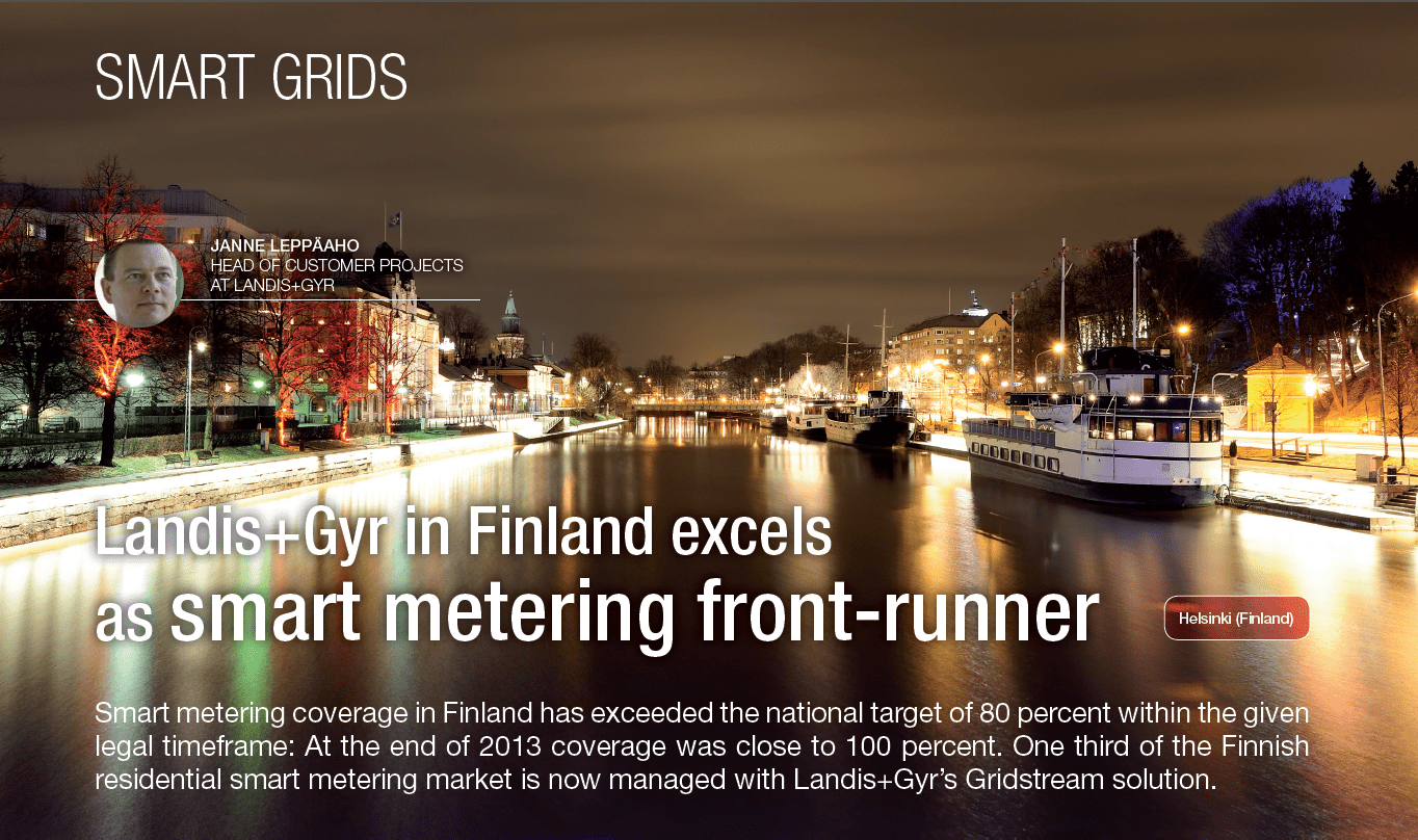 Landis+Gyr in Finland excels as smart metering front runner